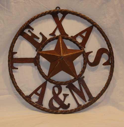 Texas A&M Rustic Star Ring-Texas A&M, rustic star, metal star
