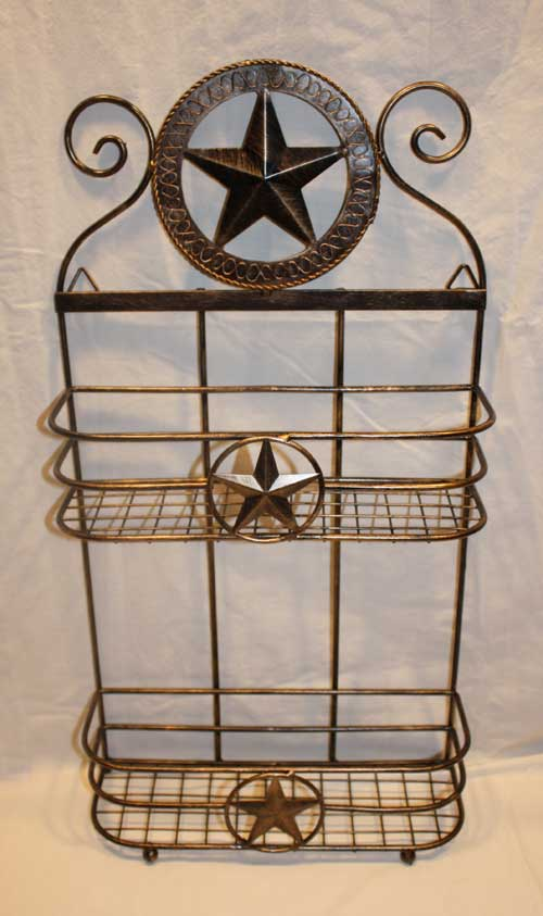 Two Tiered Metal Star Shelf-