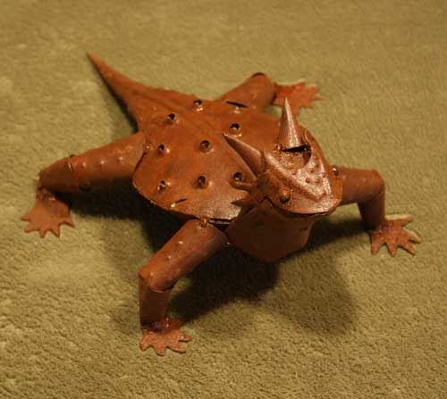 Metal Horned Toad-