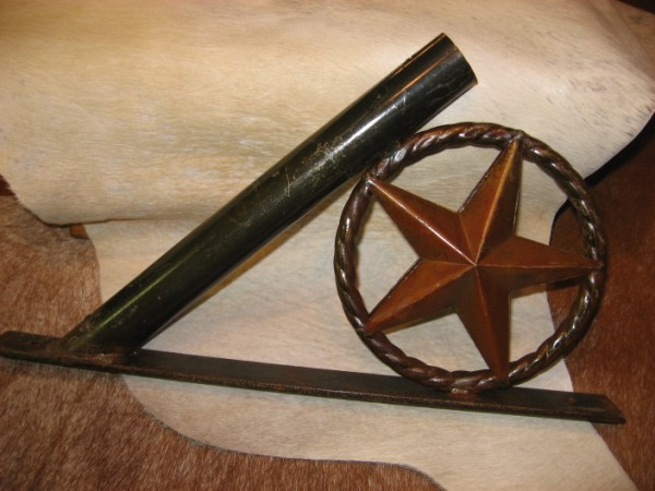 Rustic Metal Star Flag Holder-flag holders