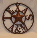 Texas A&M Rustic Star Ring-Texas A&M, rustic star, metal star