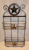 Two Tiered Metal Star Shelf-
