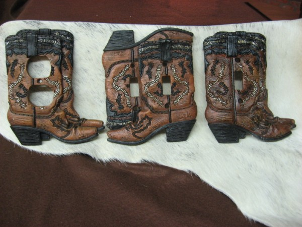 Western Light Switch Plates-Boots-